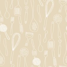<strong>York Wallcoverings</strong> Bistro 750 Kitchen Contours Silhouettes Wallpaper