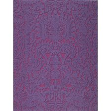 Barbara Becker Raised Surface Faux Textile Unframed Damask Wallpaper