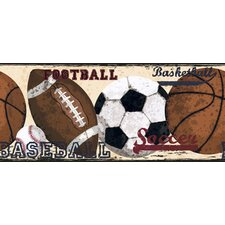 Candice Olsen Kids Vintage Sports Wallpaper Border