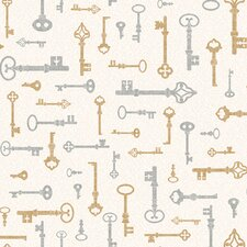 Bistro 750 Key and Mini Damask Prepasted Wallpaper
