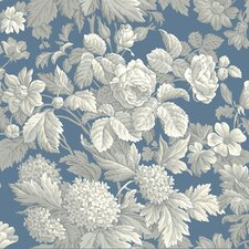 French Dressing Antique Floral Wallpaper