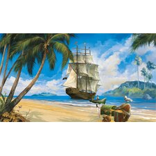 <strong>York Wallcoverings</strong> York Kids IV Pirate Chair Rail Wall Mural