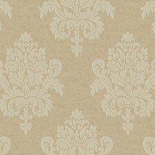 <strong>York Wallcoverings</strong> Proper English Etched Damask Wallpaper