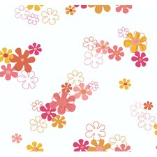 York Kids IV Flower Power Wallpaper