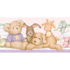 <strong>York Wallcoverings</strong> York Kids IV Animals On The Shelf Wallpaper Border