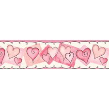 <strong>York Wallcoverings</strong> York Kids IV Heart Wallpaper Border