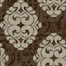 Risky Business Tone On Tune Straight Damask Wallpaper