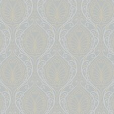 Candice Olson Dimensional Surfaces Metallic Filigree Damask Wallpaper