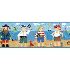 Peek-A-Boo Pirates Wallpaper Border