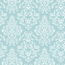 Peek-A-Boo Delicate Document Damask Wallpaper