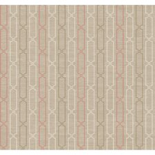<strong>York Wallcoverings</strong> Jewel Box Links Stripe Wallpaper