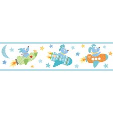 <strong>York Wallcoverings</strong> Peek-A-Boo Rocket Dog Wallpaper Border