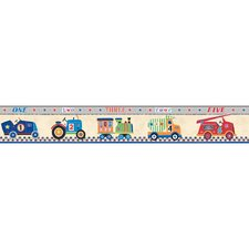 <strong>York Wallcoverings</strong> Peek-A-Boo Cars 1, 2, 3 Wallpaper Border