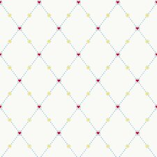Peek-A-Boo Hearts Harlequin Wallpaper