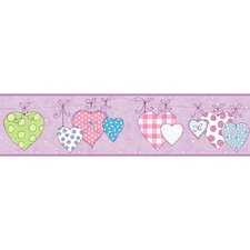 <strong>York Wallcoverings</strong> Peek-A-Boo Clothesline Hearts Wallpaper Border