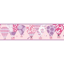 Peek-A-Boo Hot Air Balloon Wallpaper Border