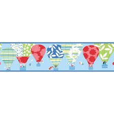 <strong>York Wallcoverings</strong> Peek-A-Boo Hot Air Balloon Wallpaper Border