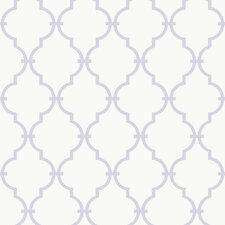 <strong>York Wallcoverings</strong> Peek-A-Boo Graphic Trellis Wallpaper