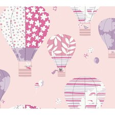Peek-A-Boo Hot Air Balloon Wallpaper