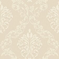 Royal Cottage Leafy Damask Ogee Wallpaper