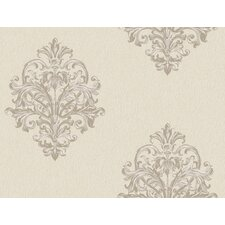 Royal Cottage Sketch Damask Wallpaper