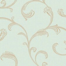 Gentle Manor Architectural Scroll Wallpaper