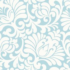 <strong>York Wallcoverings</strong> Silhouettes Oversized Tulip Damask Wallpaper