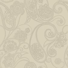Candice Olson Shimmering Details Dotted Paisley Wallpaper