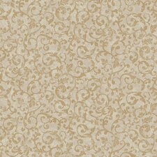 <strong>York Wallcoverings</strong> Gentle Manor Scroll Wallpaper
