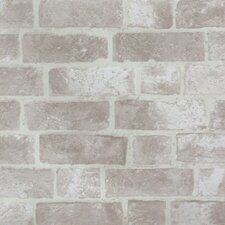 Modern Rustic Brick Trompe L'oiel Wallpaper