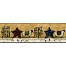 Mural Portfolio II Sheep/Star Border Wallpaper