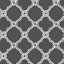 Silhouettes Trellis Fretwork Wallpaper