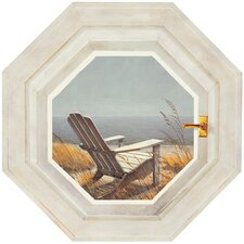 Mural Portfolio II Trompe L'Oiel Shoreline Chair Hexagonal Window Accent Wall Sticker