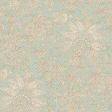 Aged Elegance II Bali Floral Botanical Wallpaper
