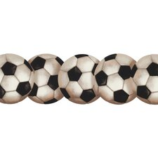 <strong>York Wallcoverings</strong> Mural Portfolio II Soccerball Wallpaper Border