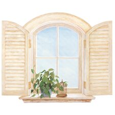 Decal Portfolio II Window with Shutters Wall Decal