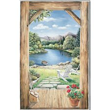 Portfolio II Trample L'Oiel Log Cabin Doorway Accent with View Wall Mural