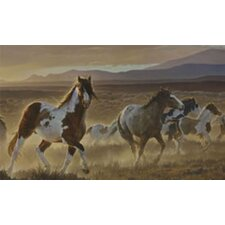 Portfolio II Desert Horse with Painted Ponies Wall Mural