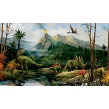 Portfolio II Jurassic Pre-Historic Landscape and Animal Wall Mural