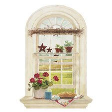 <strong>York Wallcoverings</strong> Portfolio II Kitchen Window Trompe L'Oiel Window Accent Wall Mural