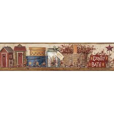 Mural Portfolio II Country Shelf Border Wallpaper