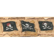 <strong>York Wallcoverings</strong> Mural Portfolio II Pirate Flag Wallpaper Border