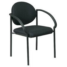 <strong>Office Star Products</strong> Stack Chair with Arms and Black Frame Quote   (special order)