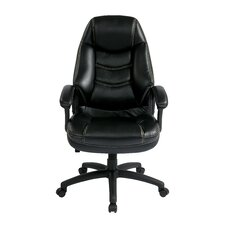 <strong>Office Star Products</strong> Oversized Executive Chair with Padded Arms
