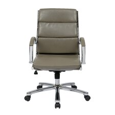 Executive Mid Back Faux Leather Chair