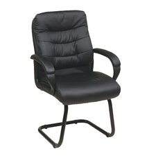 <strong>Office Star Products</strong> Faux Leather Mid Back Managers Chair with Padded Flip Arms
