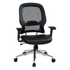 "<strong>Office Star Products</strong> Space 23"" Professional Air Grid Chair with Eco Leather Seat"