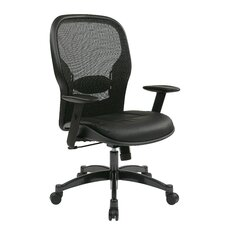 "Space 21.25"" Mesh Professional Breathable Back Chair with Eco Leather Seat"