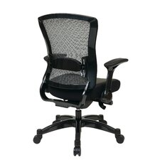 Space Seating Eco Leather Executive Back Chair with Flip Arms