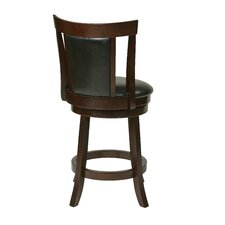 "OSP Designs 24"" Swivel Bar Stool with Cushion"